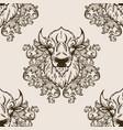 bison head seamless pattern vector image vector image