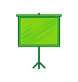 blank projection screen lemon scribble vector image vector image