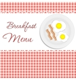 Breakfast menu vector image vector image