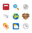 Business and interface flat icons set vector image vector image