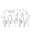 Business charts teamwork and team leader vector image vector image