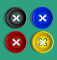 buttons set of multicolored buttons vector image vector image