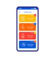 cashback app smartphone interface template