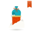 Christmas Gift in Chimney vector image vector image