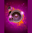 club disco flyer dancing template with subwoofer vector image vector image