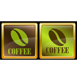 Coffee bean icons vector image vector image