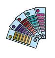 color palettes painted decoration design vector image