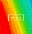 colorful paint strokes vector image vector image