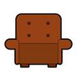 comfortable sofa isolated icon vector image