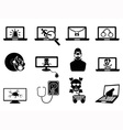 computer security and Cyber Thift icons vector image