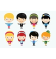 cute cartoon boys and girls together vector image vector image