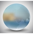 Dotted world globe blurred design vector image