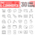 e commerce thin line icon set online store signs vector image