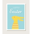 easter design with cute bunny greeting card vector image vector image