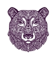 Ethnic ornamented bear Hand drawn vector image