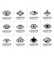 eye logo black set vector image vector image