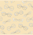 fashionable spectacles seamless pattern cat vector image