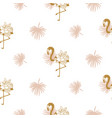 flamingo and tropic leaves elegant wedding vector image vector image