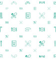 fork icons pattern seamless white background vector image vector image
