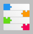 four color piece puzzle infographics four steps vector image vector image