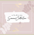 gold pink blush chic feminine banner vector image
