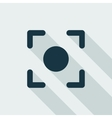 GPS Target Location Flat Icon vector image vector image