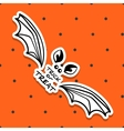 Halloween Sticker Bat vector image