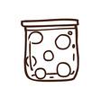 Hand Drawn Jar of Balls vector image vector image