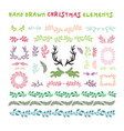 hand drawn set of colorful wreaths ribbons vector image vector image