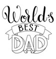 happy father day lettering vector image vector image