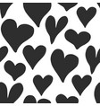 heart symbol seamless pattern hand drawn sketch vector image