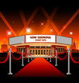 hollywood movie red carpet movie theater vector image