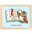 Idiom a wise owl vector image vector image