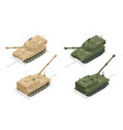isometric m109 is an american 155 mm turreted self vector image