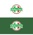 italian logo vector image