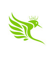 king hummingbirds logo design vector image vector image