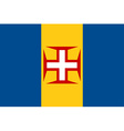 Madeira flag vector image vector image