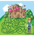 Maze game - hehp princ find the way to his castle vector image