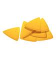 nachos icon cartoon style vector image