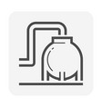 oil and gas industry tank icon design vector image