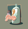 retro vintage soda bottle beverage party vector image