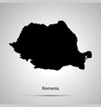 romania country map simple black silhouette vector image vector image