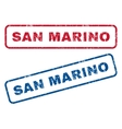 San Marino Rubber Stamps vector image vector image