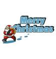 Santa And Christmas Greeting vector image vector image