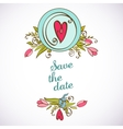 Save the date floral card Vintage invitation vector image vector image
