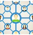 Seamless background of people on social network vector image vector image
