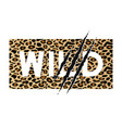 seamless leopard vector image vector image