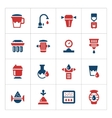 Set color icons of water filters vector image vector image
