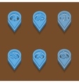 set icons Isometric style vector image