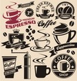 Set of coffee symbols icons and signs vector image vector image